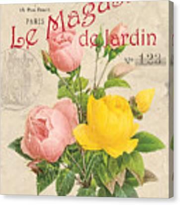 Vintage French Flower Shop 3 Canvas Print by Debbie DeWitt