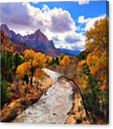 Virgin River Autumn Canvas Print by Greg Norrell