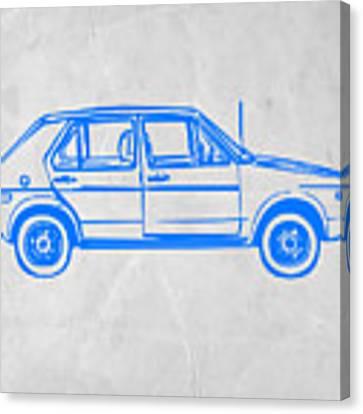 Vw Golf Canvas Print by Naxart Studio