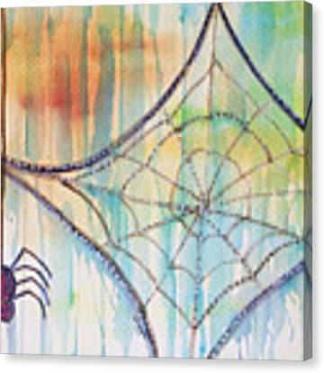 Water Web Canvas Print by Angelique Bowman