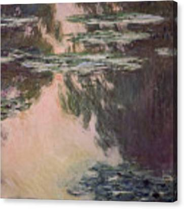 Waterlilies With Weeping Willows Canvas Print by Claude Monet