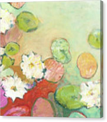 Waterlillies At Dusk No 2 Canvas Print