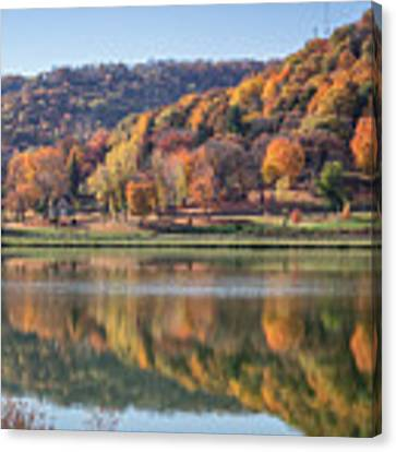 West Lake Winona With Woodlawn 2x3 Canvas Print by Kari Yearous