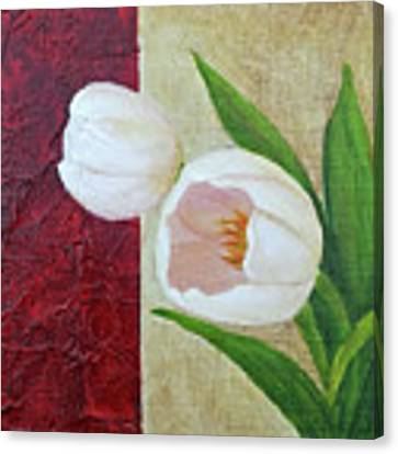 White Tulips Canvas Print by Phyllis Howard