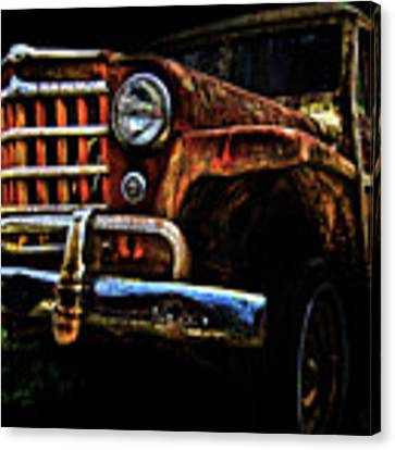 Willy's Station Wagon Canvas Print by Glenda Wright