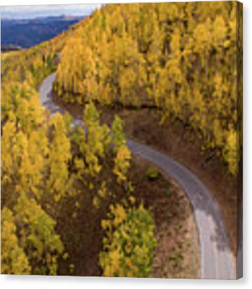 Winding Through Fall Canvas Print by Wesley Aston