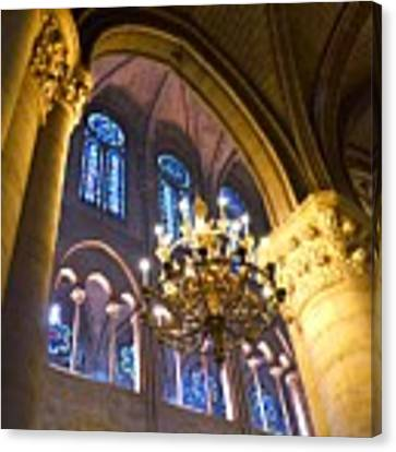 Windows At The Notre Dame Cathedral In Paris Canvas Print by Kim Bemis