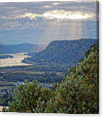 Winona Garvin Heights With Sunbeams Canvas Print by Kari Yearous