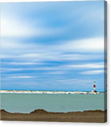 Wisconsin Winter Lakefront Canvas Print by Steven Santamour