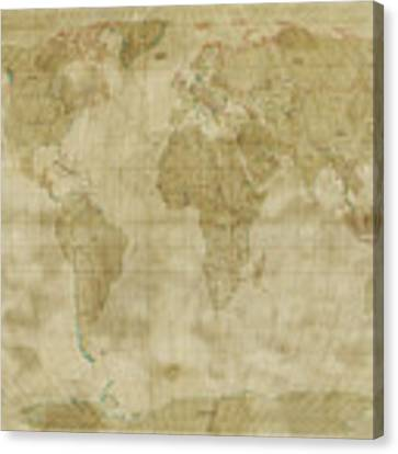 World map canvas prints fine art america maps maps and more maps vintage country maps publicscrutiny Choice Image