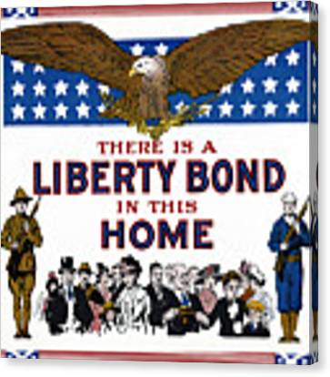 World War I Liberty Bond Ad Canvas Print by Granger