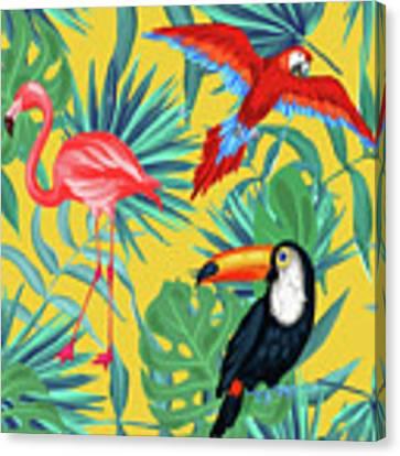 Yellow Tropic  Canvas Print