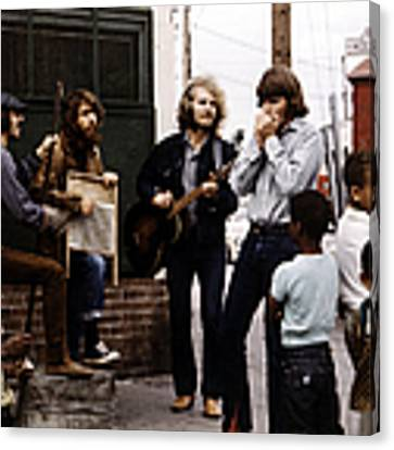 Photo Of Creedence Clearwater Revival Canvas Print by Michael Ochs Archives