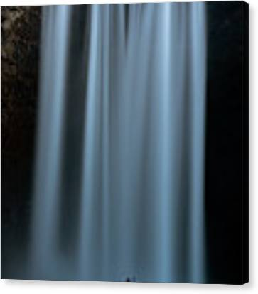 Amongst Giants Skogafoss Iceland Canvas Print by Nathan Bush