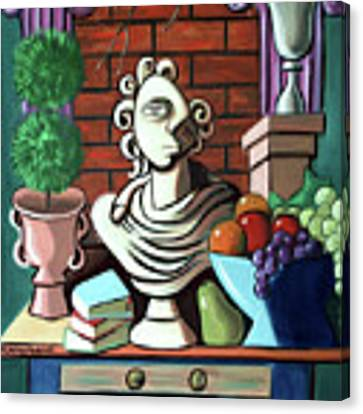 A Cubist Still Life Canvas Print by Anthony Falbo