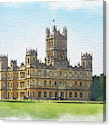 A View Of Highclere Castle 1 Canvas Print by Joe Winkler