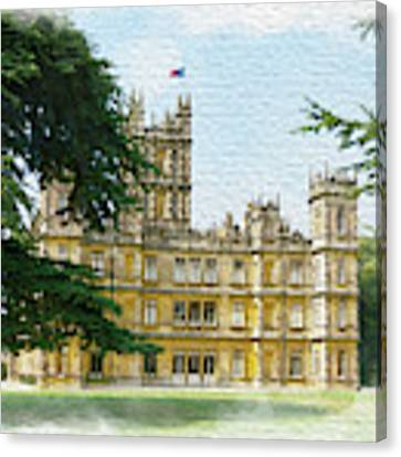 A View Of Highclere Castle 2 Canvas Print by Joe Winkler