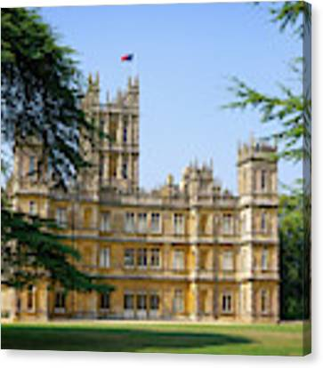 A View Of Highclere Castle Canvas Print by Joe Winkler