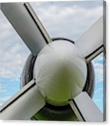 Aircraft Propellers. Canvas Print by Anjo Ten Kate