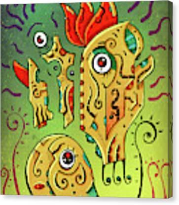 Ancient Spirit Canvas Print by Sotuland Art