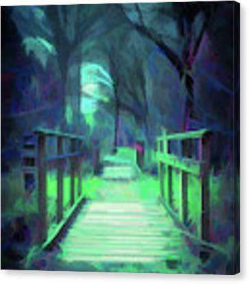 Another World - Wooden Bridge Canvas Print by Scott Lyons