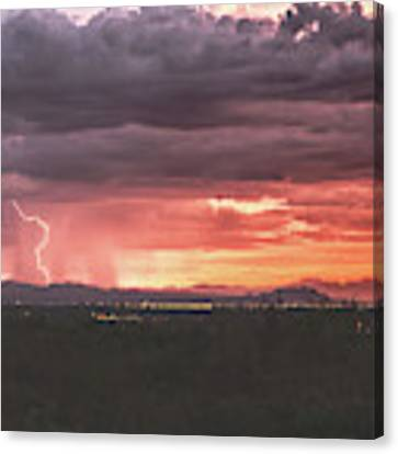 Arizona Sunset Lightning  Canvas Print by Chance Kafka