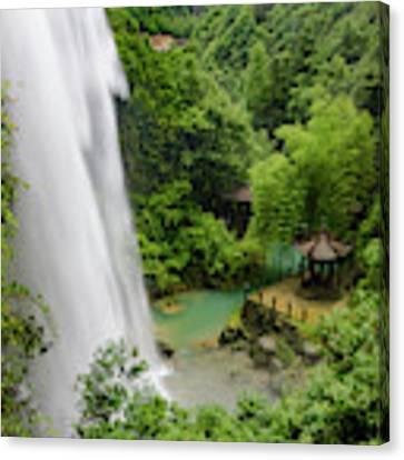Baiyun Waterfall Canvas Print by William Dickman