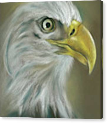 Bald Eagle With A Keen Eye Canvas Print by MM Anderson