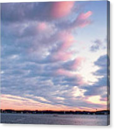 Big Sky Over Portsmouth Light. Canvas Print by Jeff Sinon