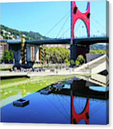 Bilbao Reflections Canvas Print by Rick Locke