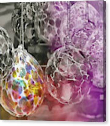 Blown Glass Ornaments Canvas Print by JAMART Photography