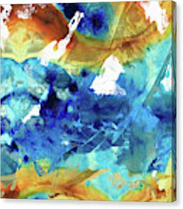 Blue Abstract Art - Time And Tide - Sharon Cummings Canvas Print by Sharon Cummings