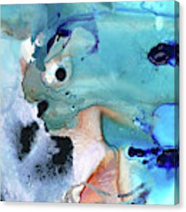 Blue Abstract - Space And Time - Sharon Cummings Canvas Print by Sharon Cummings