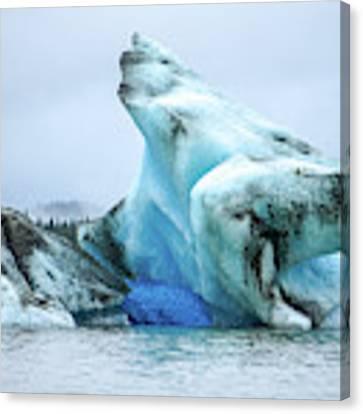 Blue Ice, Mendenhall Glacier Canvas Print by Dawn Richards