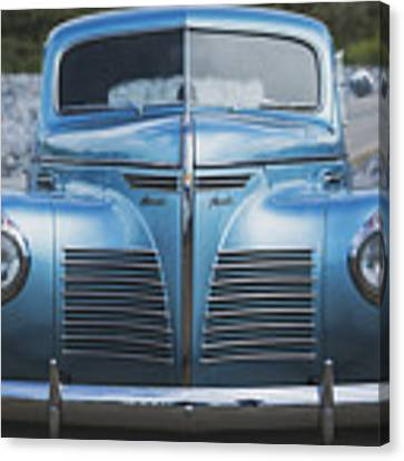 Blue Plymouth Canvas Print by Elliott Coleman