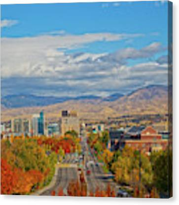 Boise In Fall Canvas Print by Dart and Suze Humeston