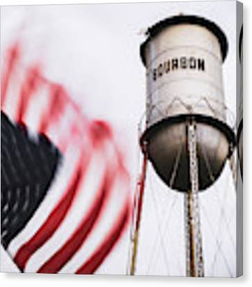 Bourbon Water Tower Usa Vintage - 1x1 Canvas Print by Gregory Ballos