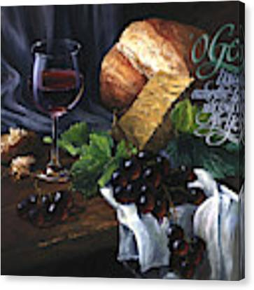 Bread And Wine Canvas Print by Clint Hansen