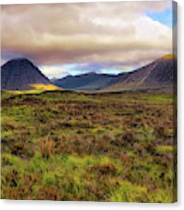 Buachaille Etive Mor From Rannoch Moor - Scotland - Landscape Canvas Print by Jason Politte