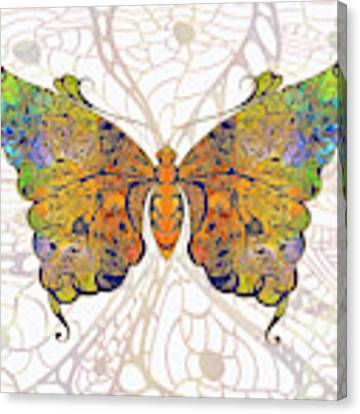 Butterfly Zen Meditation Abstract Digital Mixed Media Artwork By Omaste Witkowski Canvas Print by Omaste Witkowski