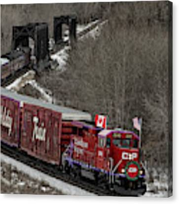 Canadian Pacific Holiday Train 2018 II Canvas Print by Brad Allen Fine Art