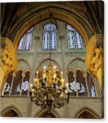 Cathedral Notre Dame Chandelier Canvas Print by Brian Jannsen