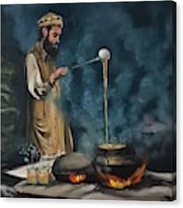 Chai Wala Canvas Print by Nizar MacNojia