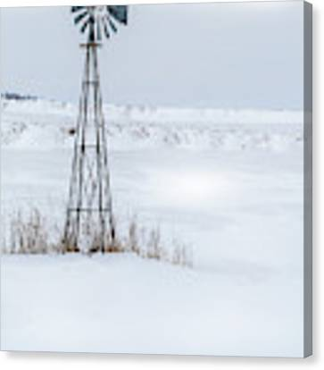 Cold Windmill Canvas Print by Edward Peterson