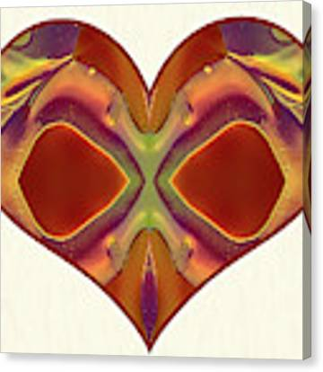 Colorful Heart - Naked Truth - Omaste Witkowski Canvas Print by Omaste Witkowski