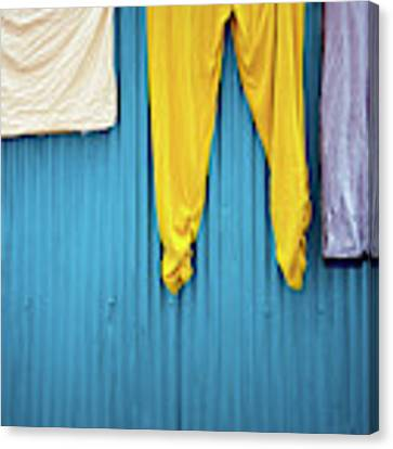 Colorful Laundry Canvas Print by Nicole Young