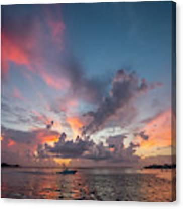 Colorful Sandsprit Sunrise Canvas Print by Tom Claud