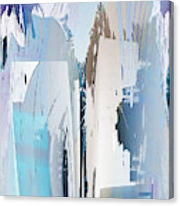 Cool Color Abstract Canvas Print by Robert G Kernodle