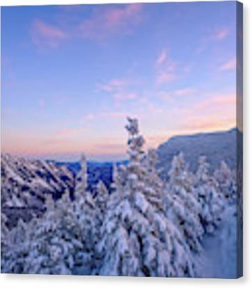 Crawford Notch Winter View. Canvas Print by Jeff Sinon