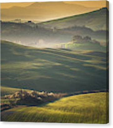 Crete Senesi Landscape In Tuscany Canvas Print by Helga Koehrer-Wagner